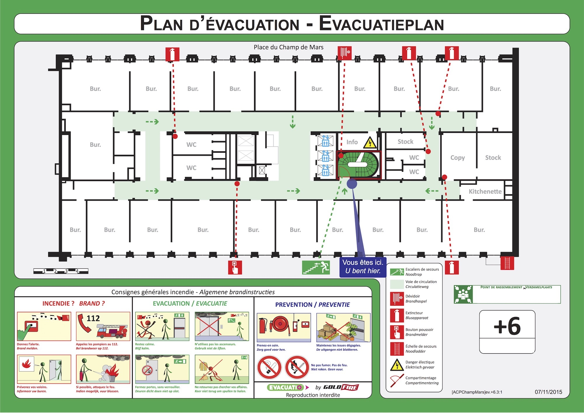 Office and administration evacuation plan